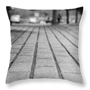 Fade Out Lines Throw Pillow