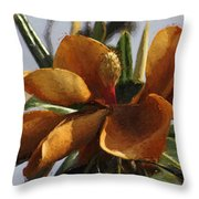 Faded Beauty - Flower - Magnolia Throw Pillow