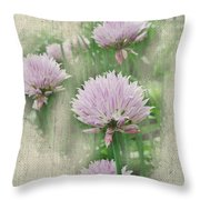 Faded Floral 11 Throw Pillow