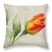 Faded Floral 9 Throw Pillow