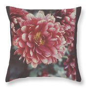 Faded Florals Throw Pillow