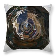 Faded Lady Throw Pillow