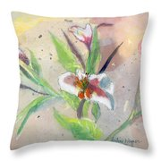 Faded Lilies Throw Pillow