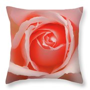 Faded - Perfect Pink Rose Throw Pillow