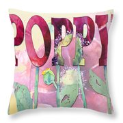 Faded Poppy Throw Pillow