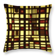 Faded Rectagles Throw Pillow