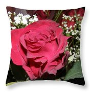 Faded Rose 1 Throw Pillow