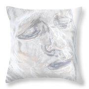 Faded Sculpture Throw Pillow