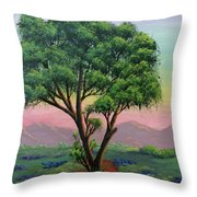 Fading Day Throw Pillow