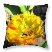Fading Flower Throw Pillow