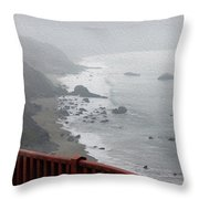 Fading Fog Throw Pillow