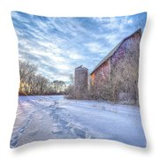 Fading History Throw Pillow