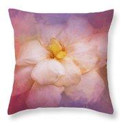 Fading Summer Flower Throw Pillow