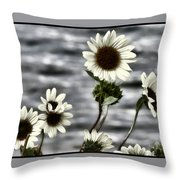 Fading Sunflowers Throw Pillow