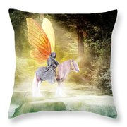 Fae In The Forest Throw Pillow