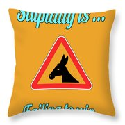 Failing Bigstock Donkey 171252860 Throw Pillow