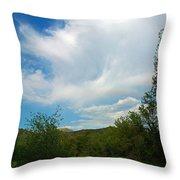 Faint Rainbow  Throw Pillow