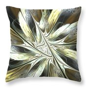 Faintly Flowered Throw Pillow