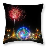 Fair Fireworks Throw Pillow