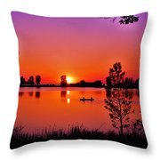 Fair Haven Sunset Throw Pillow