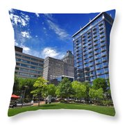 Fair Weather Center City Park Greensboro Throw Pillow