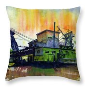 Fairbanks alaska gold dredge 8 painting by john d benson fairbanks alaska gold dredge 8 throw pillow sciox Images