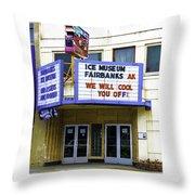 Fairbanks - Alaska Throw Pillow