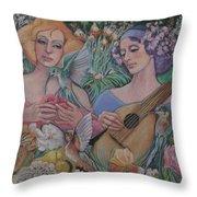 Faire Garden Throw Pillow
