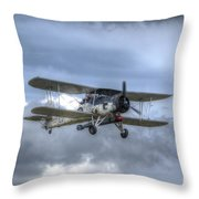 Fairey Swordfish II Ls326 Throw Pillow