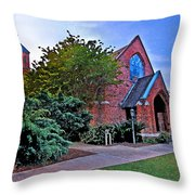 Fairhope Alabama Methodist Church Throw Pillow