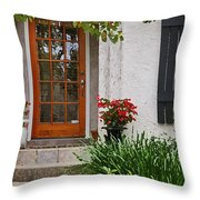 Fairhope Doorway Throw Pillow by Michael Thomas