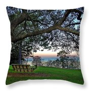 Fairhope Swing On The Bay Throw Pillow