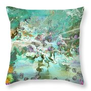 Fairie Garden Throw Pillow