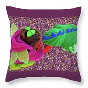 Fairies And Dragons Throw Pillow