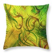 Fairies In The Garden Throw Pillow