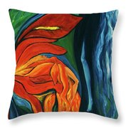 Fairies Of Fire And Ice Throw Pillow