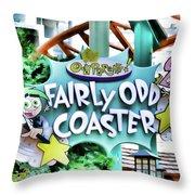 Fairly Odd Coaster Throw Pillow