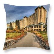 Fairmont Chateau Lake Louise Throw Pillow