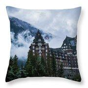 Fairmont Springs Hotel In Banff, Canada Throw Pillow