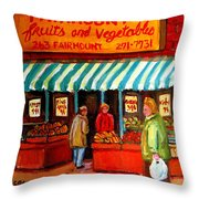 Fairmount Fruit And Vegetables Throw Pillow