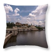 Fairmount Water Works And Philadelphia Museum Of Art Throw Pillow