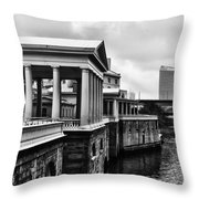 Fairmount Water Works In Black And White Throw Pillow
