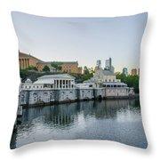 Fairmount Waterworks And Philadelphia Art Museum In The Morning Throw Pillow