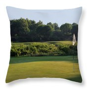 Fairway Hills - 3rd - A Bridge And Marsh To This Par 3 Throw Pillow