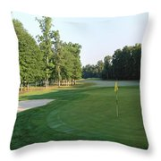 Fairway Hills - 4th - A Straight-in Par 4 Throw Pillow