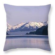 Fairweather Mountain Range Alaska Throw Pillow