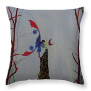 Fairy And Butterfly Throw Pillow
