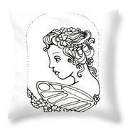 Fairy Cameo Throw Pillow