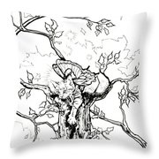 Fairy Cat Climber Throw Pillow