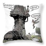 Fairy Comic Illustration 1 Throw Pillow